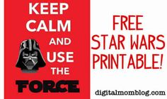 Free Star Wars printable in celebration of my kids silly holiday, May the - Star Wars Day! That's right, get out your light sabers, costumes or Star Wars t- Star Wars Classroom, Star Wars Birthday, Diy Birthday, Fourth Birthday, Birthday Recipes, Birthday Parties, Anniversaire Star Wars, Star Wars Bedroom, Printable Star