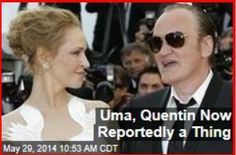 Latest News:  Uma, Quentin Now Reportedly a Thing.  Uma Thurman has been Quentin Tarantino's muse for two decades—but now she's more, sources tell Us. Thurman found herself single again when she broke off her engagement (for the second time) last month, and now she and Tarantino are reportedly dating.  Get all the latest news on your favorite celebs at www.CelebrityDazzle.com!