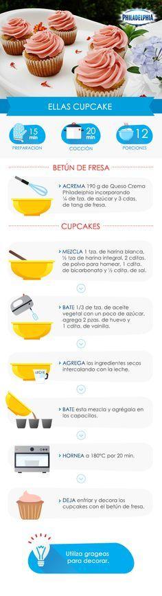 Unos deliciosos #cupcakes para consentirte.