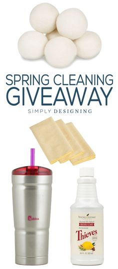 Clean Spring Cleaning Giveaway and ways to clean your home without chemicals