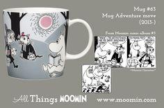 Moomin mug Adventure move by Arabia - Moomin Moomin Mugs, Tove Jansson, Finland, Childhood, Adventure, Tableware, Troll, Cups, History