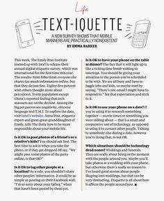 Etiquette and Manners - Cell Phone