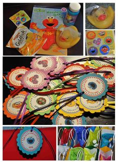 sesame street themed goody bag ideas