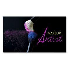 MakeUp Artist, Cosmetology, Salon Business Card http://www.zazzle.com/makeup_artist_cosmetology_salon_business_card-240461788940996994?rf=238194283948490074&tc=pfz