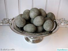 concrete eggs hobby,pyssel,hantverk,betong,betongägg,påskägg,ägg