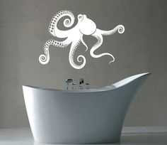 Octopus Wall Decal Vinyl Stickers Tentacles Sea by BestDecalsUSA