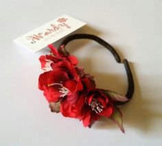 #Wrist #corsage.#Silk #flowers.Prom.#Wedding #accessories.#Brides and #bridesmaids.Soft #Red color.#WARDY