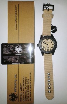 INFANTRY INFILTRATOR ARMY WATCH NEW WITH TAGS SAND DIAL