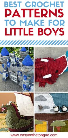 Crochet Toys for Baby Boys and Toddlers Crochet Toys for Boys. In this post, I have sourced a few crochet patterns that you can use to crochet gifts or as items to sell. The detail is insane and any y Crochet Toddler, Crochet For Boys, Cute Crochet, Baby Blanket Crochet, Crochet Baby, Irish Crochet, Crochet Beanie, Diy Craft Projects, Crochet Projects