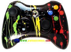 Rasta Splatter Xbox 360 Controller - KwikBoy Modz #rasta #bobmarley #xbox360 #customcontroller #rastacontroller #moddedcontroller #xbox360controller
