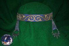Silk headdress with silk embroidery