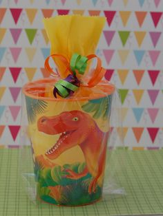 DINOSAURS PRE HISTORIC Pre Filled Party Favors Goodie Bags for Kids Birthday Parties