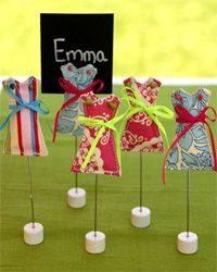 Dress Placecard Holders