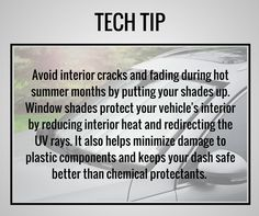 Sun shades are a quick and affordable way to help protect your vehicle. #TipTuesday