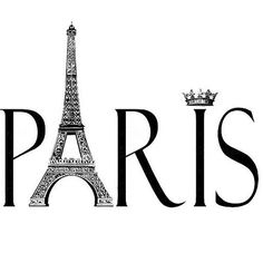 black and white paris clipart - Google Search