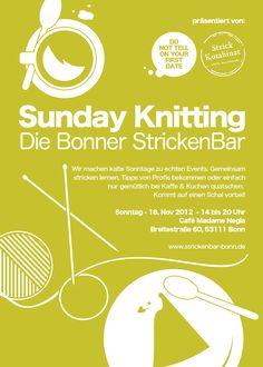 Die erste StrickenBar in Bonn präsentiert von @Malika Doua von Strickkombinat und mir :-)