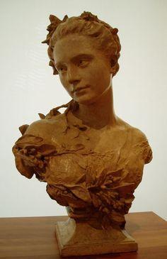 1827 - 1875 Jean-Baptiste Carpeaux - Amélie en toilette de mariée (1869)