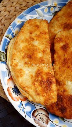 Τηγανόψωμα Chef Recipes, Greek Recipes, Food Network Recipes, Greek Cheese Pie, Cheese Pies, Cheese Pie Recipe, The Kitchen Food Network, Greek Cooking, Recipes