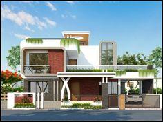 Modern Bungalow Exterior, Modern House Facades, Modern Architecture House, Bungalow House Design, House Front Design, Modern House Design, Architecture Building Design, Kerala House Design, Villa Design