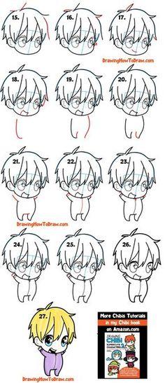 Eyes Chibi, Chibi Manga, Naruto Chibi, Chibi Boy, Cute Anime Chibi, Anime Boy Sketch, Chibi Sketch, Anime Drawings Sketches, Cute Drawings