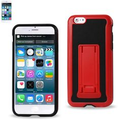 Reiko Horizontal And Vertical Kickstand Case Iphone 6-6S Plus 5.5Inch Black Red