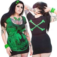 Women's Plus Size Skull T-Shirt Slash Front | Graphics, Torrid and ...