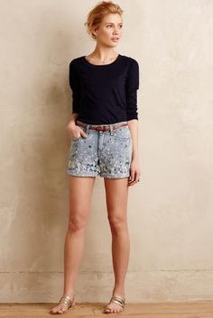 Pilcro Premium Splattered Shorts Tinted Denim Shorts #anthroregistry