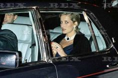 Princess Diana on her way to the CFDA Fashion Awards Feb 1995