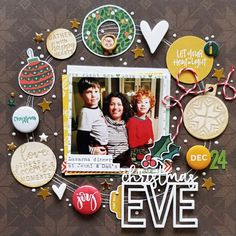 scrapbook layout by Tracey Fox @scrappylikeafox (Comfort and Joy designed by Brandi Kincaid and FYC Christmas Time mini flair)