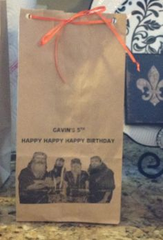 Duck Dynasty party bags