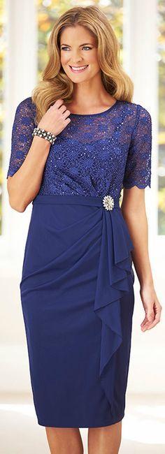 @roressclothes clothing ideas #women fashion blue midi dress