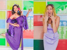 A Madonna Inn Bachelorette Weekend | Ultimate Bridesmaid | Brandi Lopez Photography.  Wear old bridesmaid dresses to the bachelorette for a fun photo shoot!