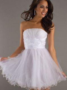 Empire Waist Short Strapless Chiffon Semi Formal Dresses for Rehearsal Dinner or Bachelorette
