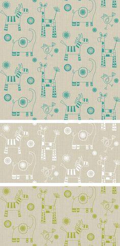 wendy kendall designs – freelance surface pattern designer » linen animals