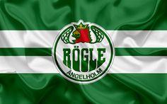 تحميل خلفيات Rögle BK, RBK, السويدي نادي هوكي, 4k, شعار, دوري الهوكي السويدي, SHL, الهوكي, ملاك هولم, السويد