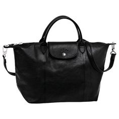 longchamp-Le Pliage Cuir, who even knew such a thing existed??