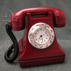 Quartz movement clock in old-style telephone, sold for $12.99