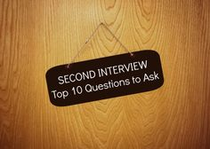 Second interview top 10 questions to ask