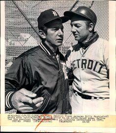 1971 Detroit Tiger  Al Kaline and Manager Billy Martin