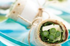 Asparagus and Feta Wraps recipe, NZ Woman's Weekly – Asparagus and feta is a great flavour combination, and these wraps are both tasty and nutritious. – foodhub.co.nz