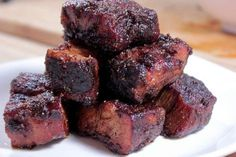 pork-burnt-ends with spicy butter injection *** I'M SPEECHLESS WITH WANT!!!! :) ***