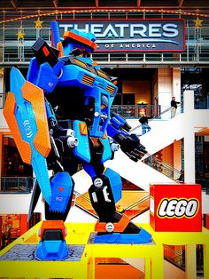 Robot at Lego Land Mall of America in front of the Theatres movie theater