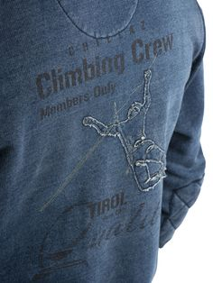 Chillaz | Hood/Hoodie Jacket| Climbing Clothing | Print Detail Climbing Crew Climbing Clothes, Hoodie Jacket, Hoodies, Knitting, Detail, Long Sleeve, Clothing, T Shirt, Pants