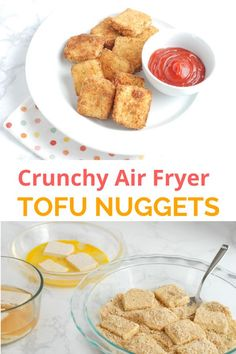 These crispy breaded tofu nuggets are crunchy, dunkable, and kid-friendly. They cook in the air fryer in just 15 minutes. Informations About Cr Crispy Tofu, No Cook Meals, Kids Meals, Seasoned Bread Crumbs, Extra Firm Tofu, Quick Weeknight Dinners, Tofu Recipes, Recipes For Beginners