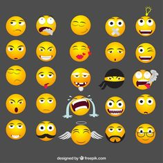 Adobe Illustrator, Funny Emoticons, Good Morning Quotes, Smiley, Vector Free, Kawaii, Anime, Lol, Animated Smiley Faces