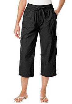 Women's Plus Size Pants, Capri Style In Convertible Lengths (Black,18 W) Woman Within http://www.amazon.com/dp/B008XKBQSY/ref=cm_sw_r_pi_dp_eJbkvb0NCH3WX