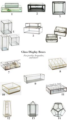 Glass Display Boxes and sources to find them.