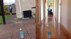 Bizar tricks. Water bottle trick