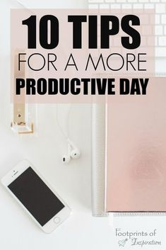 There are some great tips for having a more productive day! I& be getting started immediately on some of these! There are some great tips for having a more productive day! Ill be getting started immediately on some of these! Productive Things To Do, Productive Day, Time Management Strategies, Work Productivity, How To Stop Procrastinating, Work From Home Tips, How To Stay Motivated, Getting Things Done, Business Tips