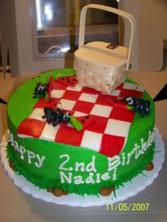 picnic cake for carters 2 birthday